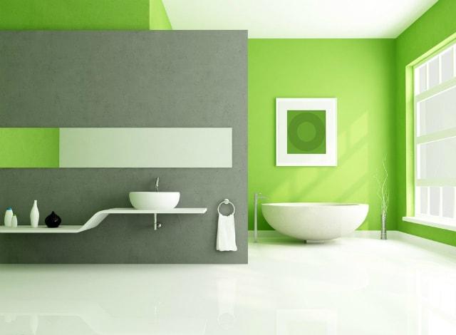 модерна зелена баня