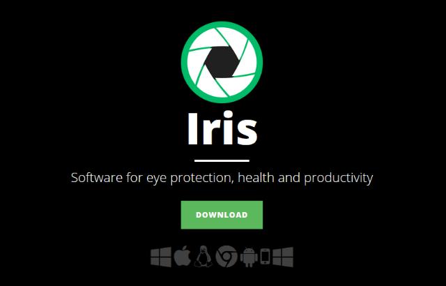 Iris софтуер за защита на очите
